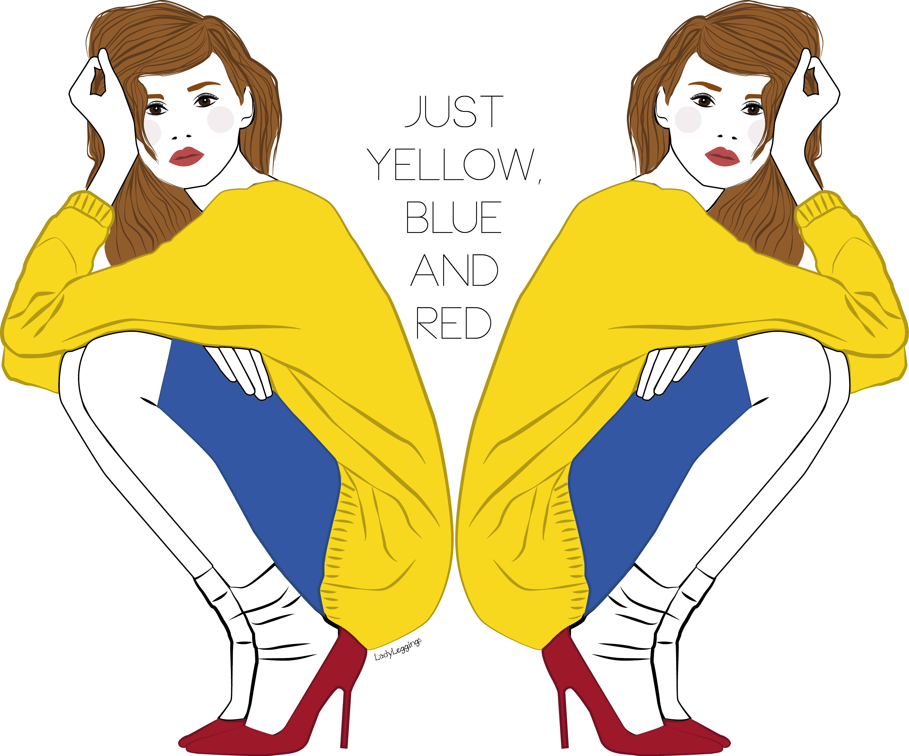 JUST YELLOW, BLUE ANDRED!